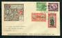COOK ISLANDS 1946 Peace. Set of 4 on first day cover. - 30577 - FDC