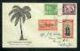 SAMOA 1946 Peace. Set of 4 on first day cover. - 30589 - FDC