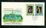NOUVELLES HEBRIDES 1972 Christmas. Set of 2 on first day cover. - 30590 - FDC