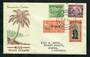 NIUE 1946 Peace. Set of 4 on illustrated first day cover. - 30591 - FDC