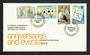 CYPRUS 1984 Anniversaries and Events. Set of 4 on first day cover. SOCCER MAPS STAMP COLLECTING MEDICAL. - 30635 - FDC