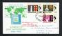 BERMUDA 1966 20th Anniversary of UNESCO. Set of 3 on first day cover. - 30648 - FDC