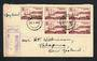 SOUTH AFRICA 1949 Natal Settlers first day cover. Block of 4, cover registered. - 30662
