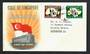 SINGAPORE 1961 National Day. Set of 2 on first day cover. - 30693 - PostalHist