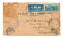 NEW ZEALAND 1934 Flight Cover with Postage Dues on the reverse. Red cachet T4d on the front. Very grubby but unusual. - 30803 -