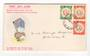 NEW ZEALAND Postmark Timaru ST ANDREW'S. J class cancel on cover. NEW ZEALAND 1955 Health on illustrated first day cover. Jones