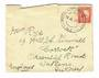 NEW ZEALAND Postmark Wellington WELLINGTON RAILWAY. J Class cancel on 1937 cover to England. Not listed by Wooders. - 30990 - Po