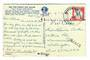 USA 1964 Postcard mailed airmail but cachet SURFACE.