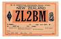 NEW ZEALAND QSL card ZL2BM. - 31137 - Postcard