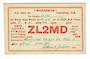 NEW ZEALAND QSL card ZL2MD. - 31138 - Postcard