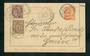FRANCE 1902 Lettercard to Geneva 1c Orange with added postage on both sides. - 31257 - PostalHist