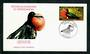 NEW CALEDONIA 1977 Great Frigate Bird 42fr on first day cover. - 31266 - FDC