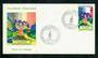 FRENCH POLYNESIA 1971 Monument of de Gaulle on first day cover. - 31268 - FDC