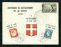 FRANCE 1960 Centenary of the Attachment of Savoy to France on first day card. - 31271 - FDC