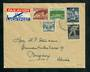 NETHERLANDS 1944 Airmail Cover from Tilburg to Burgdorf Switzerland with stamps from the 1944 Independance Restored set. - 31278