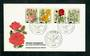 WEST BERLIN 1982 Humanitarian Relief Funds Roses. Set of 4 on first day cover. - 31326 - FDC