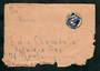 GERMANY 1950 Allied Occupation Letter to New Zealand with cinderella on the reverse. Badly torn. - 31338 - PostalHist