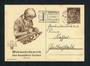 GERMANY 1938 Winter Relief Fund Postcard 6pf+4pf Brown. - 31357 - PostalStaty
