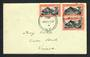 NEW ZEALAND 1940 Centennial 8d Maori Council. 3 stamps on first day cover. - 31435 - FDC