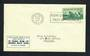 NEW ZEALAND 1956 Cover The Colonial Mutual Life Assurance Society Limited Hastings. Genuine usage of 2d Southland Centennial. -
