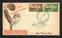 NEW ZEALAND 1946 Health Unlisted Flaw 1d + ½d  Red-Brown misplaced. On first day cover. - 31468 - FDC