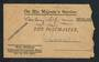 NEW ZEALAND Post and Telegraph Cover. Money-Order Advices. Addressed to The Postmaster. Official Paid. In very poor condition. -