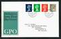 GREAT BRITAIN 1968 Machins. Set of 4 on first day cover 1/7/68. - 31701 - FDC