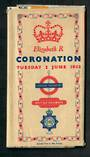 GREAT BRITAIN 1953 Map issued by London Transport and British Rail on the occasion of the Coronation. - 31711 - PostalHist