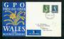 WALES 1967 Definitives. Set of 2 on first day cover. - 31737 - FDC