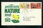 GREAT BRITAIN 1963 National Nature Week. Set of 2 on first day cover. - 31750 - FDC