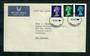 GREAT BRITAIN 1967 Elizabeth 2nd Machins issued 8/8/1967. Set of 3 on first day cover. - 31783 - PostalHist