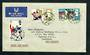 GREAT BRITAIN 1966 World Cup. Set of 3 on first day cover. - 31789 - FDC
