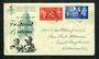 GREAT BRITAIN 1951 Festival of Britain. Set of 2 on first day cover. Festival Postmark. Toning. - 31793 - FDC
