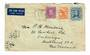 AUSTRALIA 1945 Airmail Letter to New Zealand 5½d rate. Includes 3d Stuart. - 32019 - PostalHist