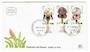 ISRAEL 1978 Protrctrd Wild Flowers. Set of 3 with tabs on first day cover. . - 32042 - FDC