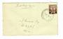 SAMOA 1940 Surcharge 1½d Brown on first day cover. - 32107 - FDC