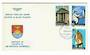 GILBERT & ELLICE ISLANDS 1974 Centenary of the Birth of Sir Winston Churchill. Set of 3 on first day cover. - 32116 - FDC