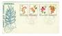 PAPUA NEW GUINEA 1966 Flowers. Set of 4 on first day cover. - 32143 - FDC