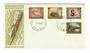 PAPUA NEW GUINEA 1970 National Heritage. Set of 4 on first day cover. - 32144 - FDC