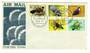 PAPUA NEW GUINEA 1977 Birds. Set of 5 on first day cover. - 32151 - FDC