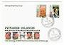 PITCAIRN ISLANDS 1991 65th Birthday of Queen Elizabeth and 70th Birthday of Prince Philip. Set of 2 on first day cover. - 32161