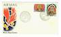 PAPUA NEW GUINEA 1977 Definitives Masks. The $1 and $2 on first day cover. - 32177 - FDC