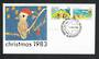 AUSTRALIA 1983 Christmas. Set of 2 on first day cover. - 32203 - FDC