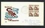 AUSTRALIA 1959 Definitive 6d Brown-Banded Anteater. Block of 4 on illustrated first day cover. - 32204 - FDC