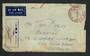 AUSTRALIA 1942 Letter sent from AIF Field PO 15/1/42 No 2 AASC-Coy AIF Malaya to Australia. Red  POSTAGE PAID JOHORE 25 CENTS ma