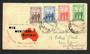 AUSTRALIA 1940 War Effort. Set of 4 on first day cover. - 32245 - FDC