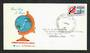 AUSTRALIA 1963 Commonwealth Cable 2/3 Blue and Red on first day cover. . - 32267 - FDC