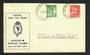 AUSTRALIA 1937 Geo 6th Definitive 1d and 2d issued 10/5/1937 on first day cover. - 32299 - FDC