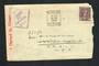 AUSTRALIA 1943 Letter from Australia to NZ Div Supply Co NZASC MEF.  Passed by Censor 222. Reseal Label