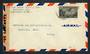 CUBA 1944 Airmail Letter to USA. Cuba slogan cancel on the reverse. Reseal Label